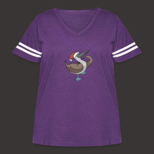 Boobie Bird Xmas Dance - Women's Curvy Vintage Sport T-Shirt