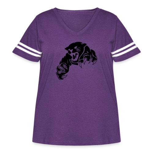 panther custom team graphic - Women's Curvy Vintage Sport T-Shirt