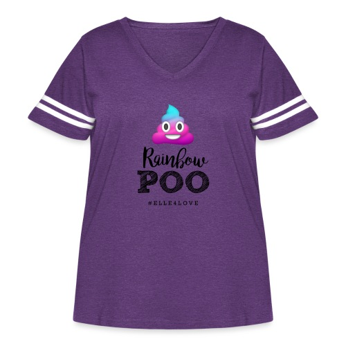 Rainbow Poo - Women's Curvy Vintage Sport T-Shirt