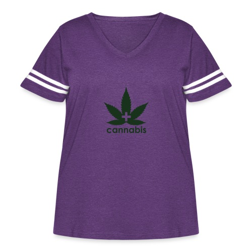 Medical Cannabis Supporter - Women's Curvy Vintage Sport T-Shirt