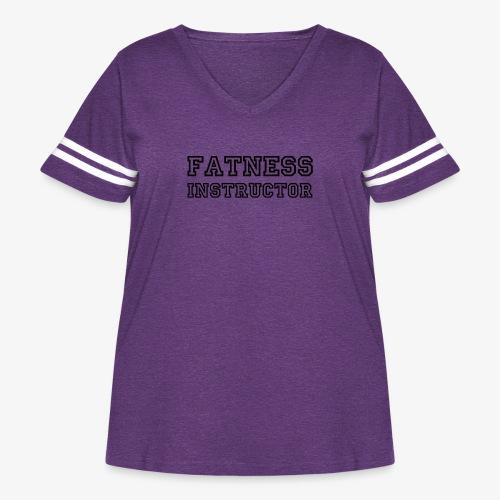 Fatness Instructor - Women's Curvy Vintage Sport T-Shirt