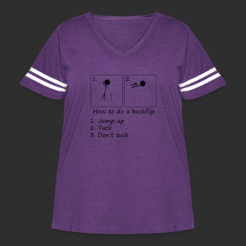 How to backflip - Women's Curvy Vintage Sport T-Shirt
