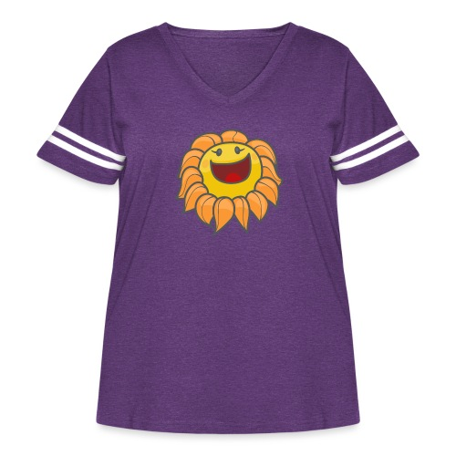 Happy sunflower - Women's Curvy Vintage Sport T-Shirt