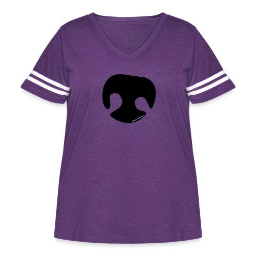 Dog Nose - Women's Curvy Vintage Sport T-Shirt