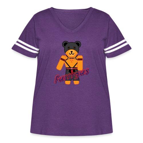 Leather Furrrgus - Women's Curvy Vintage Sport T-Shirt
