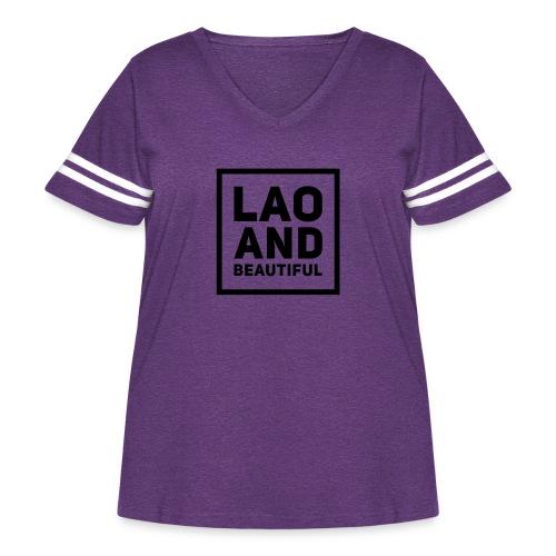 LAO AND BEAUTIFUL black - Women's Curvy Vintage Sport T-Shirt