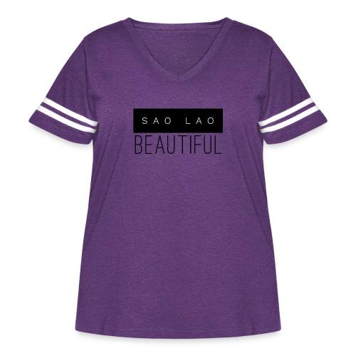 Sao Lao Beautiful - Women's Curvy Vintage Sport T-Shirt