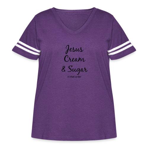 Jesus and Coffee - Women's Curvy Vintage Sport T-Shirt
