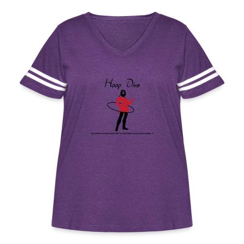 Hoop Diva - Red - Women's Curvy Vintage Sport T-Shirt