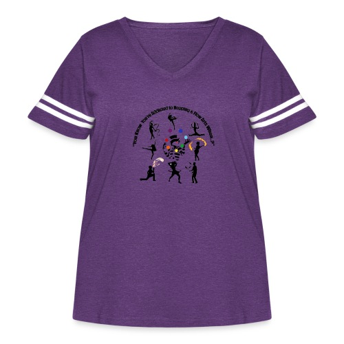 You Know You're Addicted to Hooping & Flow Arts - Women's Curvy Vintage Sport T-Shirt