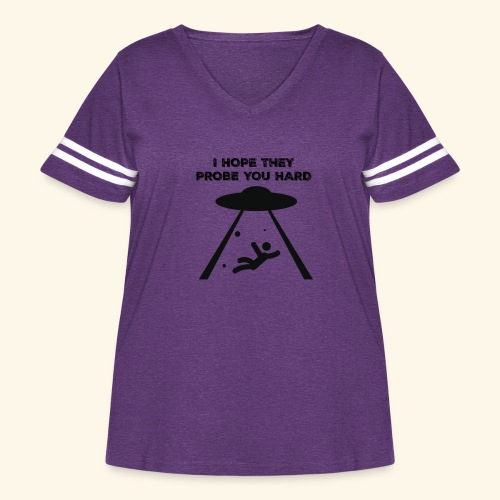 i hope they probe you - Women's Curvy Vintage Sport T-Shirt