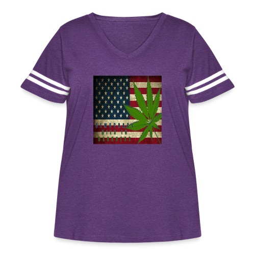 Political humor - Women's Curvy Vintage Sport T-Shirt