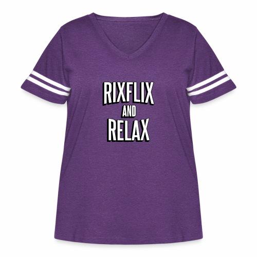 RixFlix and Relax - Women's Curvy Vintage Sport T-Shirt