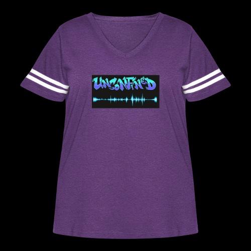 unconfined design1 - Women's Curvy Vintage Sport T-Shirt