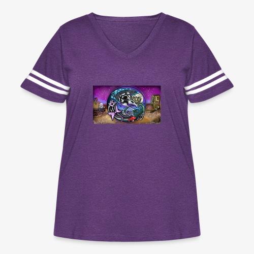 Mother CreepyPasta Land - Women's Curvy Vintage Sport T-Shirt