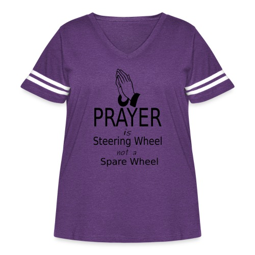 Prayer - Women's Curvy Vintage Sport T-Shirt