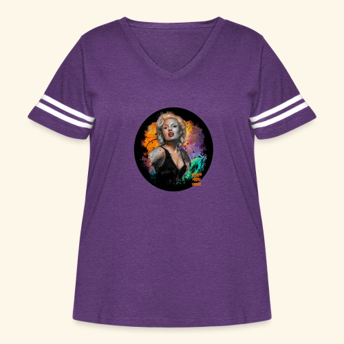 Marilyn Monroe - Women's Curvy Vintage Sport T-Shirt