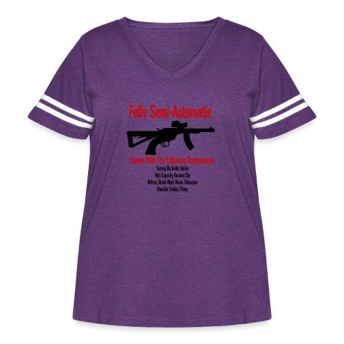 Fully Semi-Automatic - Women's Curvy Vintage Sport T-Shirt