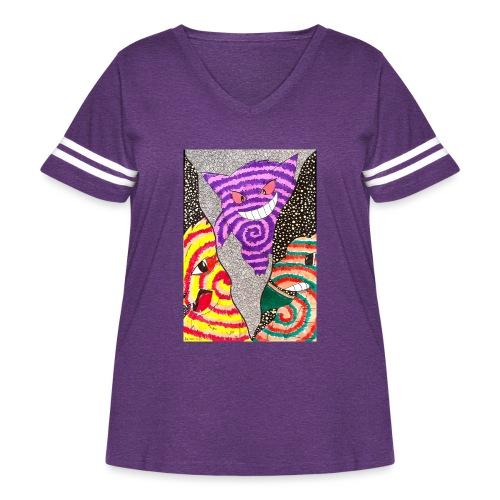 G.A.D. Trio - Women's Curvy Vintage Sport T-Shirt