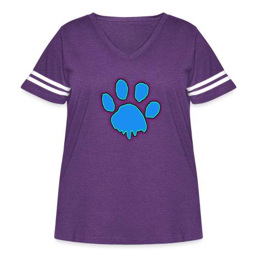 driping paw - Women's Curvy Vintage Sport T-Shirt