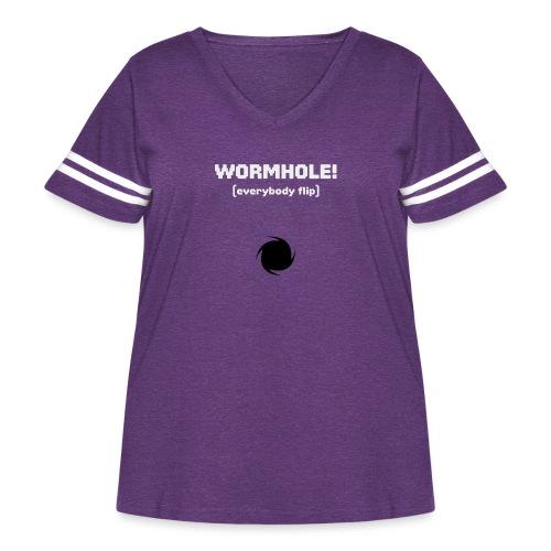 Spaceteam Wormhole! - Women's Curvy Vintage Sports T-Shirt