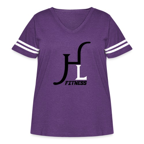 HIIT Life Fitness logo white - Women's Curvy Vintage Sport T-Shirt