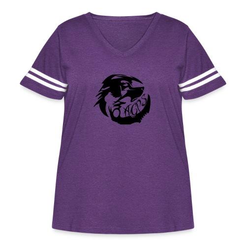 wolf - Women's Curvy Vintage Sport T-Shirt