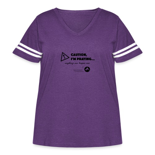 Anything Can Happen Now - Women's Curvy Vintage Sport T-Shirt