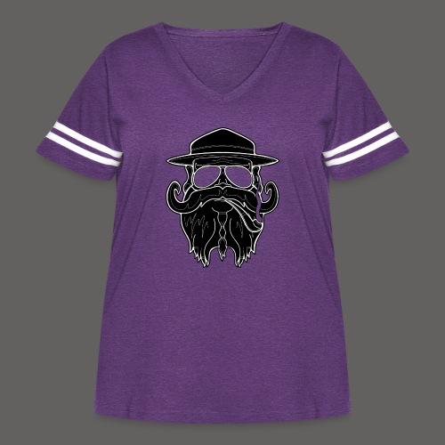 OldSchoolBiker - Women's Curvy Vintage Sport T-Shirt