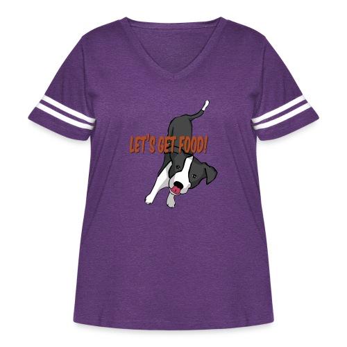 Foodie Dog Border Collie - Women's Curvy Vintage Sport T-Shirt