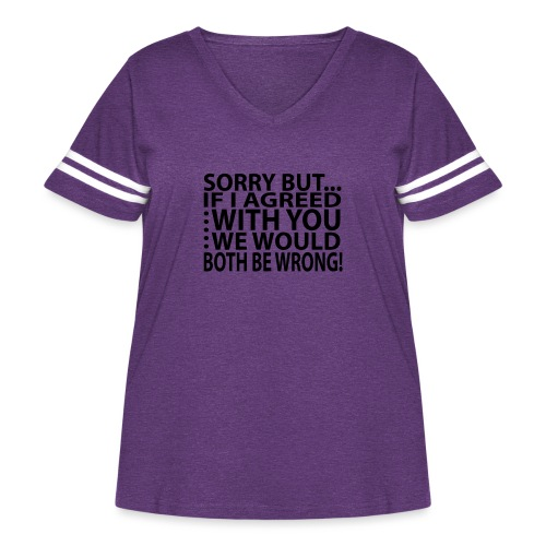 Sorry but... - Women's Curvy Vintage Sport T-Shirt