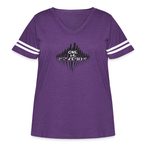 one as individuals - Women's Curvy Vintage Sport T-Shirt