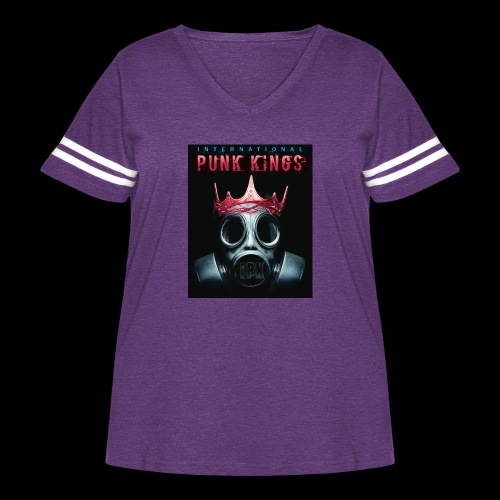 Eye Rock IPK Design - Women's Curvy Vintage Sport T-Shirt