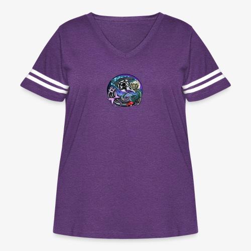 Mother CreepyPasta Nursery Rhyme Circle Design - Women's Curvy Vintage Sport T-Shirt