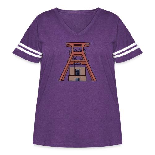 Zollverein Coal Mine Industrial Complex in Essen - Women's Curvy Vintage Sport T-Shirt