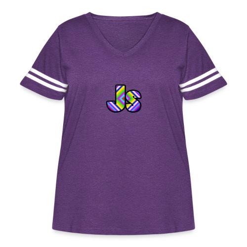 JsClanLogo2 - Women's Curvy Vintage Sport T-Shirt
