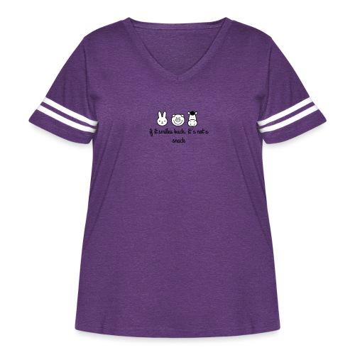 SMILE BACK - Women's Curvy Vintage Sport T-Shirt