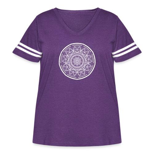 Circle No.1 - Women's Curvy Vintage Sport T-Shirt