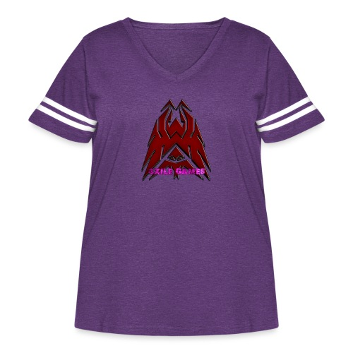 3XILE Games Logo - Women's Curvy Vintage Sport T-Shirt