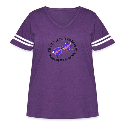 oie_transparent_-1- - Women's Curvy Vintage Sport T-Shirt