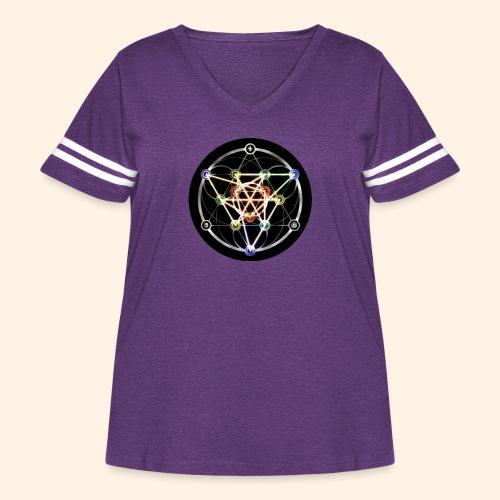 Classic Alchemical Cycle - Women's Curvy Vintage Sport T-Shirt