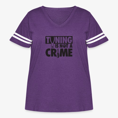 Tuning is not a crime - Women's Curvy Vintage Sport T-Shirt