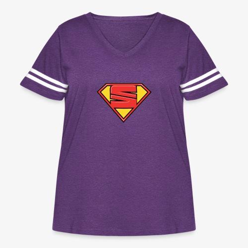 super seat - Women's Curvy Vintage Sport T-Shirt