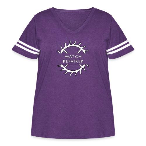 Watch Repairer Emblem - Women's Curvy Vintage Sports T-Shirt