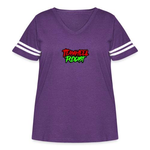 TEAMHEEL Podcast RedNGreen - Women's Curvy Vintage Sport T-Shirt