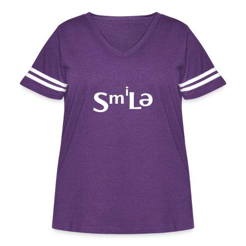 Smile Abstract Design - Women's Curvy Vintage Sport T-Shirt