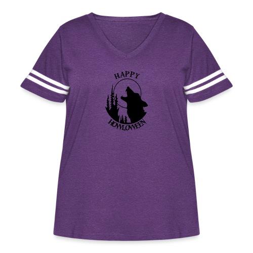 Happy Howloween - Women's Curvy Vintage Sport T-Shirt