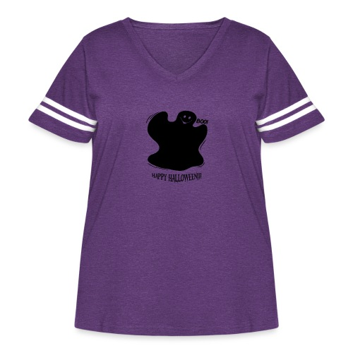 Boo! Ghost - Women's Curvy Vintage Sport T-Shirt