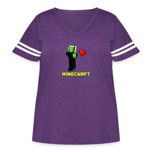 MINECWAFT ZGW - Women's Curvy Vintage Sport T-Shirt