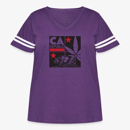 grid2 png - Women's Curvy Vintage Sport T-Shirt
